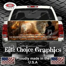Military Honor Vets Flag Reaper Truck Tailgate Wrap Vinyl Graphic Decal Wrap
