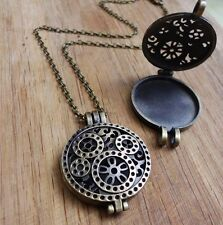 Duftkugel foto retro kette Medaillon hollow steampunk zahnrad uhr clockwork