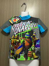 BNWT Boys Sz 3 Cute Teenage Mutant Ninja Turtles Swimming Rash Vest UPF 50+