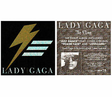 LADY GAGA The Fame Ltd Ed Discontinued RARE Holographic Debut Sticker! Joanne