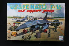 YA005 ESCI 1/48 maquette avion 4078 Usafe Nato F-16 and support group staff