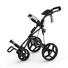 Clicgear Rovic RV3J Junior Push Golf Cart Kid Golfer Golf Pull Charcoal Black