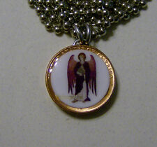 "Altered Art Lucky Penny Pendant ARCHANGEL URIEL with 24"" Chain Angel"
