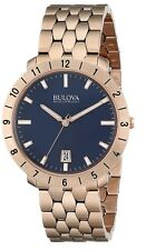 Bulova Men's 97B130 Accutron II Blue Dial Rose Gold Stainless Steel Watch