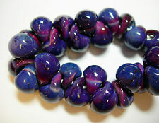 Spectacular! Lampworked Boro Glass Teardrop Beads 25 PX