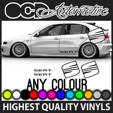 SEAT CUPRA IBIZA LEON LOGO AND TEXT SIDE GRAPHICS STICKERS DECALS KIT STRIPE