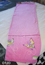 Mary Kate And Ashley Pink Butterfly Printed Velour Beach Towel 70cm x 140cm New