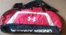 """LN Under Armour Equipment Shoulder Sport Travel Bag Red & Black RN #104409 37""""L"""