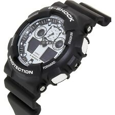 *NEW* CASIO MENS G SHOCK BLACK & WHITE FUTURE WATCH XL GA100BW-1AC RRP£129