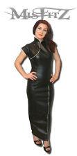 Misfitz leather look  zip china doll hobble dress sizes 8-32/made to measure/TV