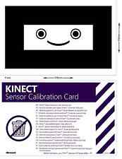 XBOX 360 KINECT SENSOR CALIBRATION CARD OFFICIAL ORIGINAL GENUINE CARD