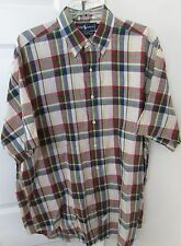 Polo Ralph Lauren Mens Madras Plaid Cotton Short Sleeve Shirt Large Great Colors
