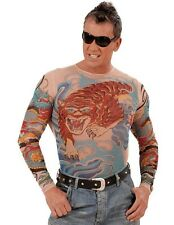 TIGER dragon tattoo maglietta Punk Rocker Biker Men's Fancy Dress Costume
