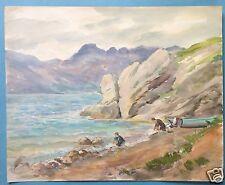 3v3: Münchner Schule Aquarell Gemälde Gardasee Lago di Garda Bènaco L. Wurm~1940