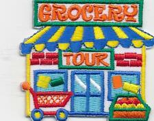 Girl Boy Cub GROCERY STORE TOUR Fun Patches Crests Badges SCOUTS GUIDE Visit