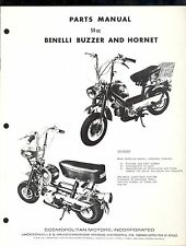 BENELLI BUZZARD &  HORNET 50cc PARTS MANUAL / COMOPOLITAN MOTORS