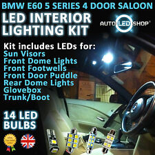 BMW 5 SERIES WHITE LED INTERIOR LIGHT SET E60 2003 - 2009 520 525 530D 530 LCI
