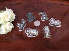Collection Of Vintage Metal Chocolate Molds