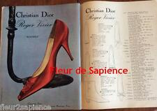 Publicité de presse Chaussures Roger Vivier Christian Dior French press Ad 1963