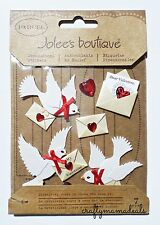 Jolee's Beautiful Doves Valentines Love Themed 3D Stickers Scrapbooking
