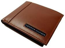 NEW TOMMY HILFIGER MEN'S LEATHER CREDIT CARD WALLET BILLFOLD TAN 31TL22X063