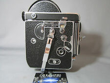 BOLEX H16 REFLEX 16MM MOVIE CAMERA BODY SWISS C-MOUNT LENS TURRET CAPS BEAUTY!