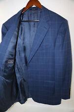 Ermenegildo Zegna Blue Check Fabric Blazer Jacket Size 46 L