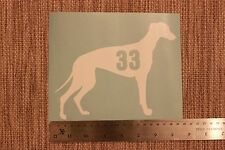 3 x Wheelie Bin Numbers Geyhound Whippet House Number Sticker Dog
