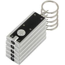 5x Black Mini Super Bright Light LED Camping FlashLight Ring Key Chain Lamp SR1G