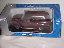 ANSON - USED - 1/18 SCALE - CADILLAC ESCALADE - BURGUNDY - BROKEN ITEM - L@@K