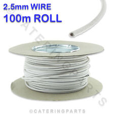 100m ROLL / REEL OF 2.5mm WHITE SIAF HEAT RESISTANT HIGH TEMPERATURE WIRE CABLE