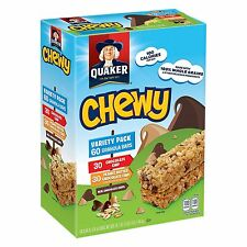 Quaker Chewy Granola Bars Variety Pack Chocolate Peanut Butter - 60 ct  NEW!!