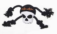PLAY DOG Pet Plush TOY EXERCISE HARLEY DAVIDSON GENUINE SKULL ROPE TUG PUPPIES