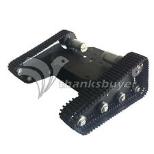 Black Robo-Soul TK-100 Creeper Truck Robotic Crawler RC Car Chassis Robot Kit