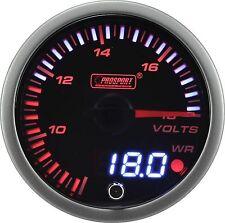 PROSPORT 60mm JDM Series Amber Red & White Led Warning Volt Gauge Voltmeter