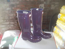 CHILDRENS GLOSS HUNTER  WELLINGTONS  IN HALIFAX SIZE 8  PURPLE URCHIN TALL KIDS