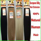 Silky Straight 100% Human Hair Weave Weft Extensions Multi-Colour weaves 18 inch