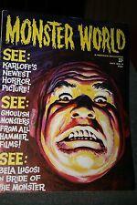 vintage paperback book MONSTER WORLD MAGAZINE ED WOOD JR BRIDE OF THE MONSTER