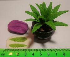 1:12 Reusable Long Leaf Mold B- Mould Dolls House Miniature Garden Accessory