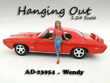 """HANGING OUT"" WENDY FIGURE FOR 1:24 SCALE MODELS AMERICAN DIORAMA 23954"