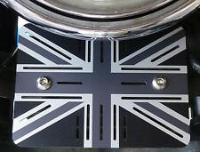 TRIUMPH interferenzaNverso Thruxton Bonneville REGOLATORE copertura regolatore Union Jack alluminio.