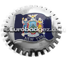 1- NEW Chrome Front Grill Badge NEW YORK Automotive Emblem MEDALLION