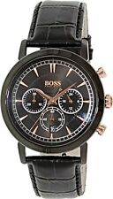 Hugo Boss -  Men's Black Leather Strap Chronograph Watch - 1513064
