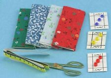 Dollhouse Miniature 1:12 Scale Sewing Set-Fabric,Buttons,Scissors #IM66095