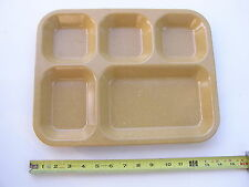 6 New Military Grade 5 Compartment Food Serving Trays Heavy Plastic Made USA