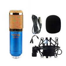 Condenser Microphone Shock Mount Recording Kit w/ Spliter for iPhone Macbook BL