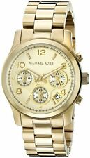 Michael Kors MK5055 Gold Runway Ladies Chronograph Watch