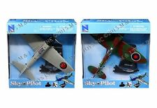 NEWRAY 1:48 SKY PILOT ASSORTMENT - ZERO FIGHTER & SPITFIGHTER 20213 Set Of 2