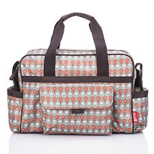 Allis Baby Changing Bag Luxury Nappy Diaper Bags 3Pcs Insulated - Red Grey