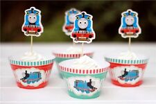 12 X Thomas Train SPECIAL Cupcake Toppers + Wrappers. Party Supplies Boy *SUPERB